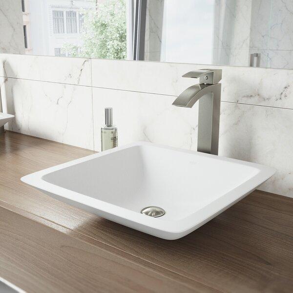 VIGO Stone Square Vessel Bathroom Sink by VIGO