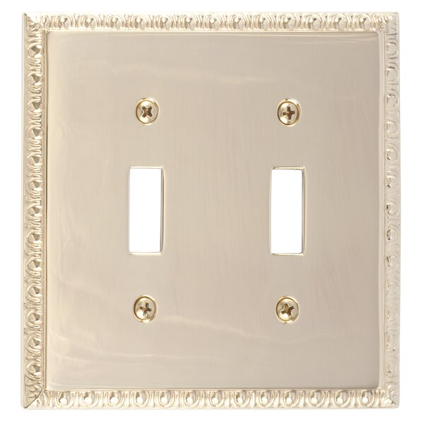 Egg and Dart Double Switch Plate by BRASS Accents