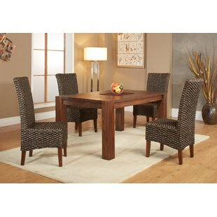 Gibson 5 Piece Extendable Solid Wood Dining Set ByLoon Peak