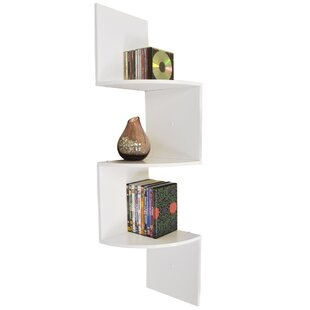 Beautiful 3 Tier Curved Wall Mounted Corner Shelf. By DCor Design