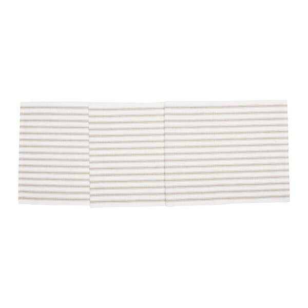 Heckman Stripe Table Runner by Alcott Hill