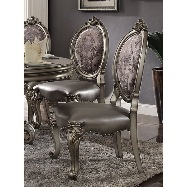 Deford Upholstered Side Chair in Antique Platinum (Set of 2) by Astoria Grand Astoria Grand