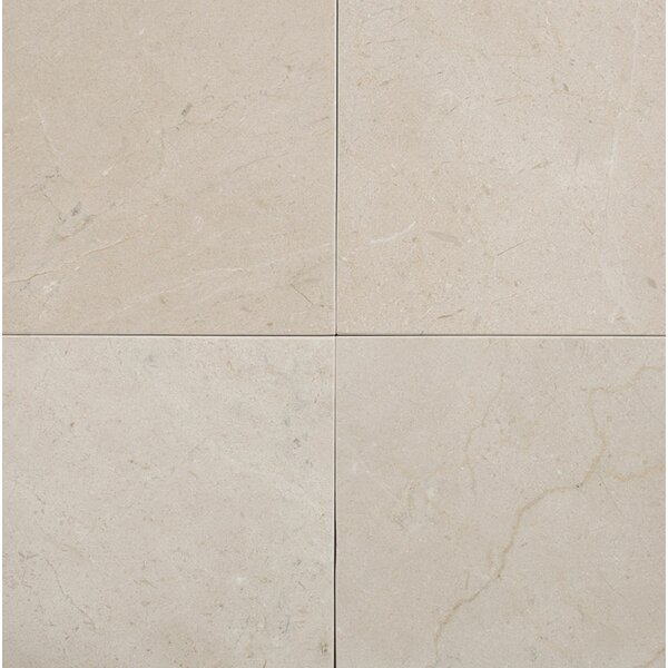 Crema Marfil 6 x 6 Marble Field Tile in Beige by Parvatile