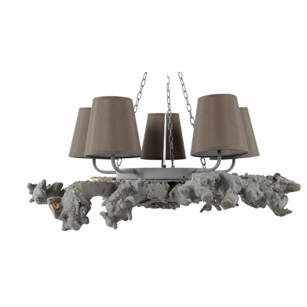 Coulibaly 5-Light Shaded Wagon Wheel Chandelier by Bloomsbury Market Bloomsbury Market