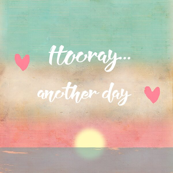 Hooray... another Day by Tammy Kushnir Paper Print by Oopsy Daisy