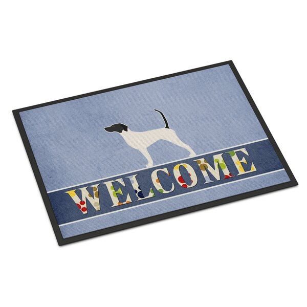 English Pointer Indoor/Outdoor 27 in. x 18 in. Non-Slip Outdoor Door Mat