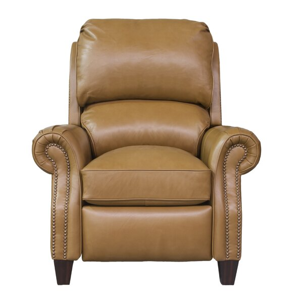 Leonard Leather Manual Recliner by Darby Home Co