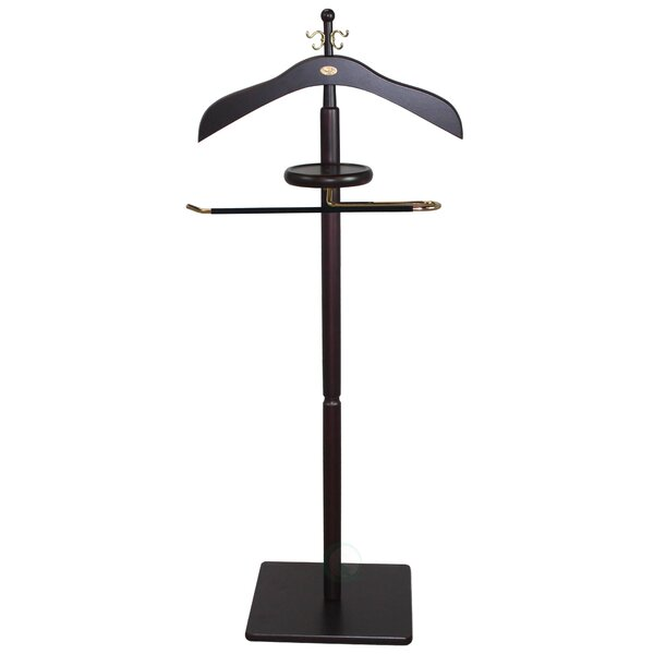 Wood Men Suit Valet Stand by Uniquewise