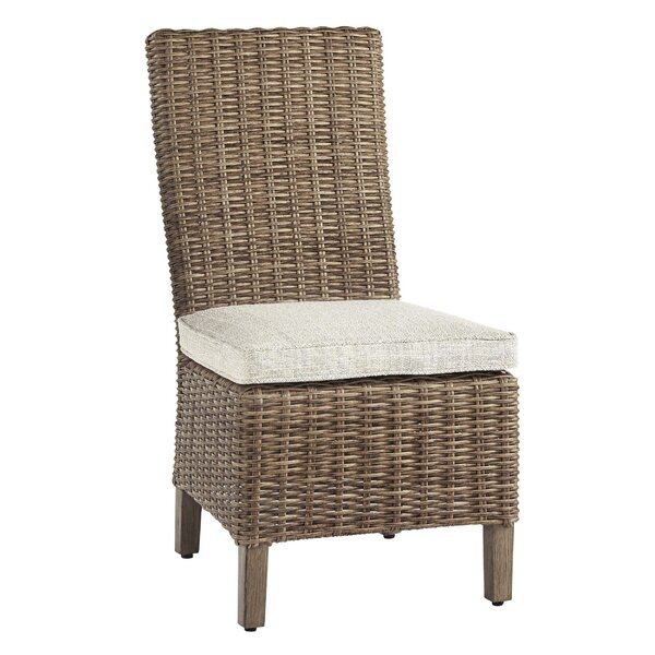 Mayon Handwoven Patio Chair with Cushions (Set of 2) by Rosecliff Heights