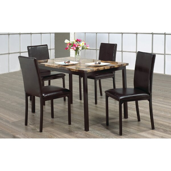 Cordele 5 Piece Dining Set By Winston Porter