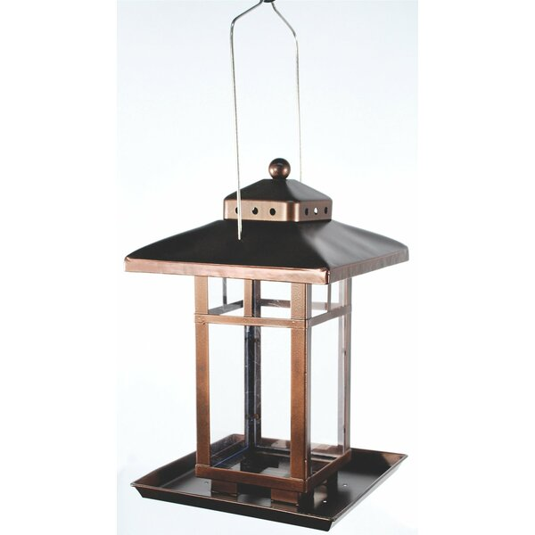 Square Lantern Hopper Bird Feeder by Audubon