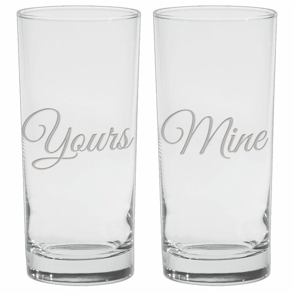 Lindon Deep Etched 15 Oz. Cooler Glasses (Set of 2) by Winston Porter