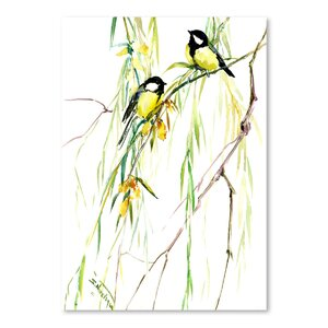 'Great Tits and Willow' Graphic Art Print by East Urban Home