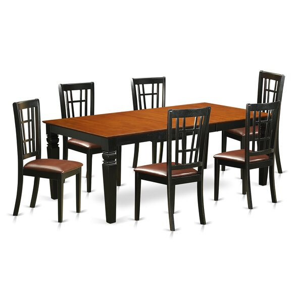 Beesley 7 Piece Rectangular HardWood Dining Set by Darby Home Co