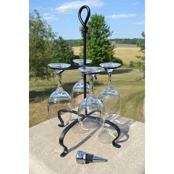 Tabletop Wine Glass Rack by J & J Wire