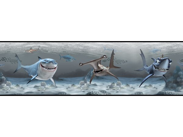 Walt Disney Kids II 9 Shark Border Wallpaper by York Wallcoverings