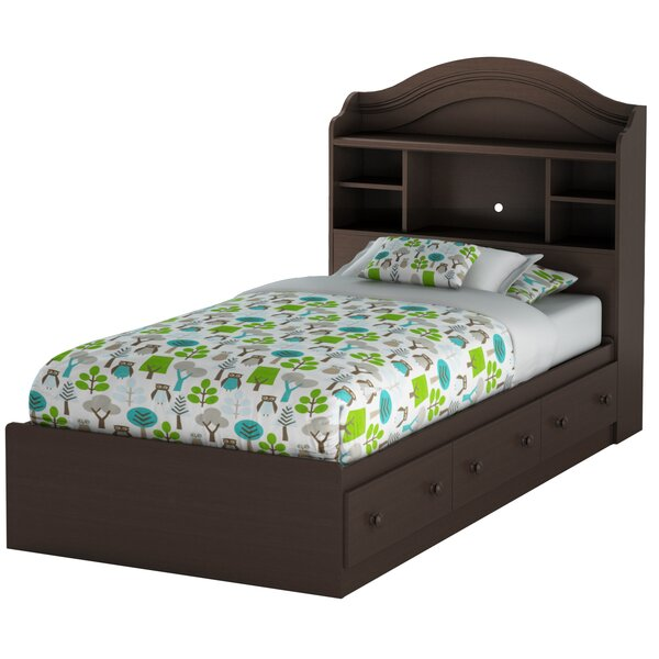 Northampt Twin Mates & Captains Bed with Drawers and Bookcase by Three Posts Teen