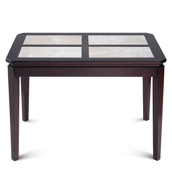 Ahmad Natural Marble Top Wood Dining Table by Darby Home Co
