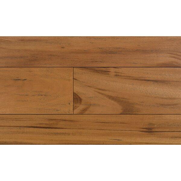 5 Engineered Tigerwood Hardwood Flooring in Red by IndusParquet