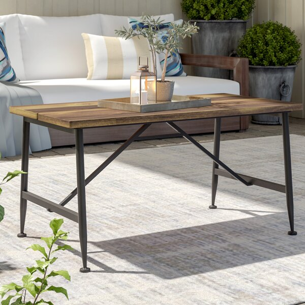 Cabarley Outdoor Wood Coffee Table by Gracie Oaks