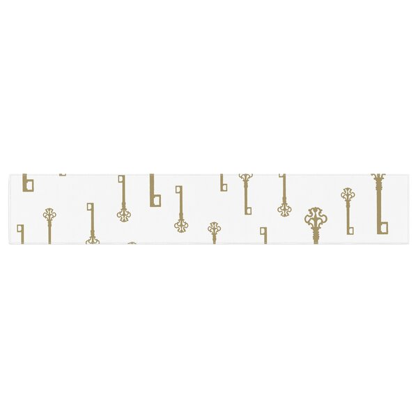 Suzanne Carter Vintage Keys II Table Runner by East Urban Home
