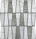 Imagine 11 x 12 Glass Stone and Metal Trapezoid Mosaic Tile in Backdrop by Emser Tile