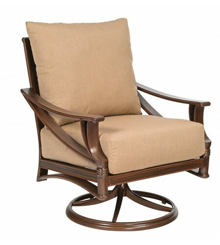 Arkadia Swivel Chair with Cushions by Woodard