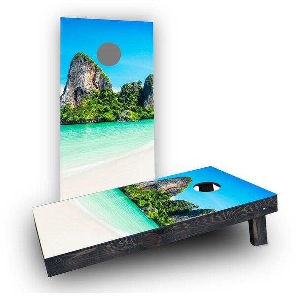 Mountains Beach Cornhole Boards (Set of 2) by Custom Cornhole Boards