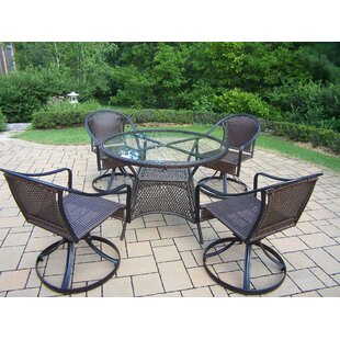 Kingsmill Coastal 5 Piece Dining Set By Rosecliff Heights