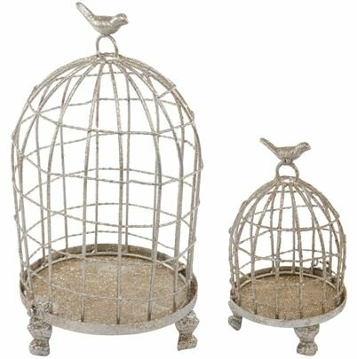 Holiday 2 Piece Bird cage Set by A&B Home