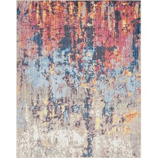 Downtown Chelsea Orange Blue Area Rug