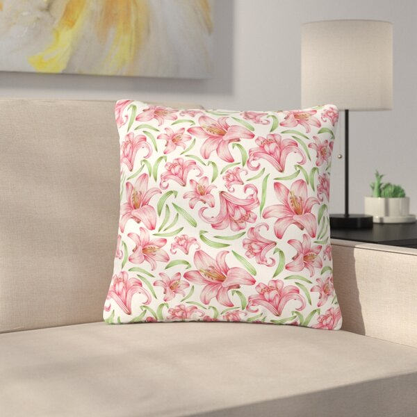 Alisa Drukman Lily Flowers Nature Outdoor Throw Pillow by East Urban Home