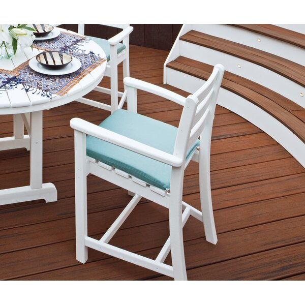 Monterey Bay Patio Bar Stool with Cushion by Trex Outdoor