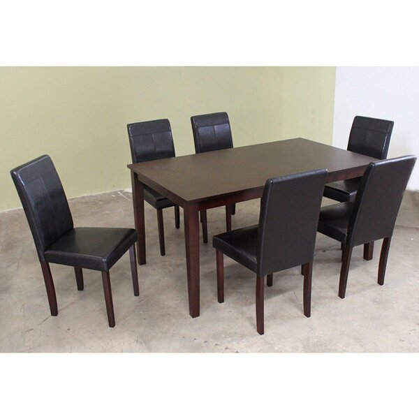 7 Piece Solid Wood Dining Set by Warehouse of Tiffany