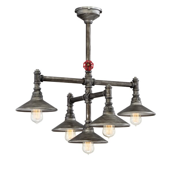 Llanos 5 - Light Shaded Tiered Chandelier by 17 Stories 17 Stories