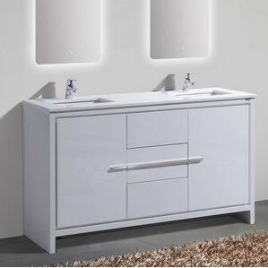 60 in bathroom vanity double sink. Bosley 60  Double Sink Modern Bathroom Vanity Vanities You ll Love Wayfair