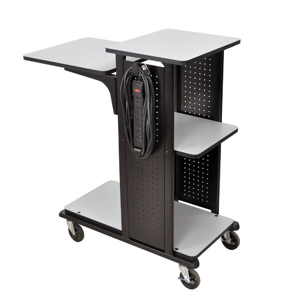 4-Shelf Mobile Presentation Station AV Cart by H. Wilson Company