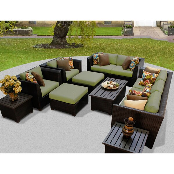 Medley 12 Piece Rattan Sofa Seating Group With Cushions By Rosecliff Heights