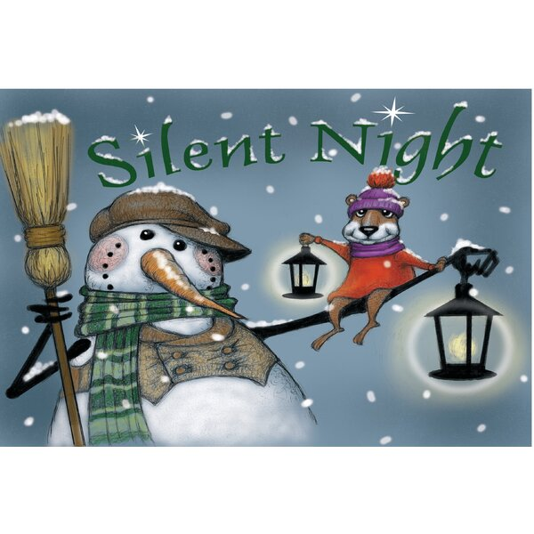 Silent Night Lights Doormat by The Holiday Aisle