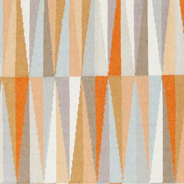 Marion Hand Woven Wool Orange/Blue/Brown Area Rug by Zipcode Design