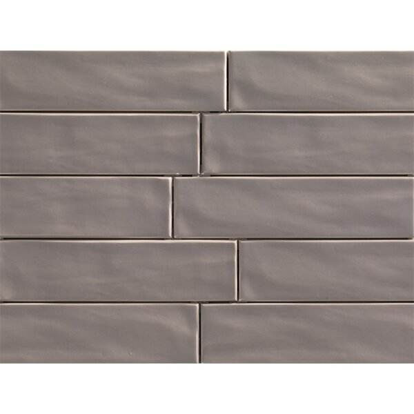 Organic Brick 3 x 12 Porcelain Subway Tile in Teak by Travis Tile Sales