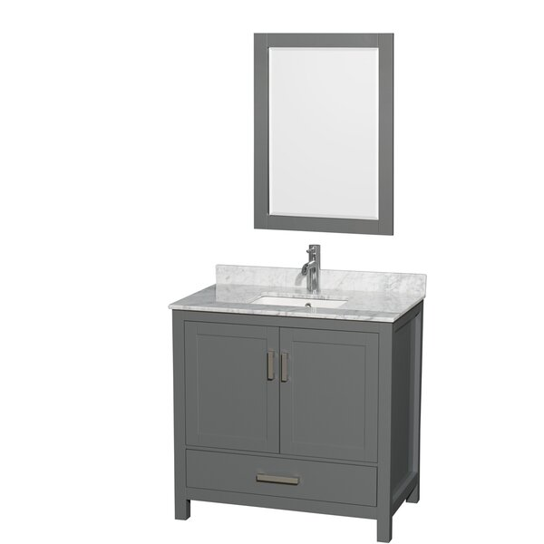 Sheffield 36 Single Bathroom Vanity Set with Mirror by Wyndham Collection