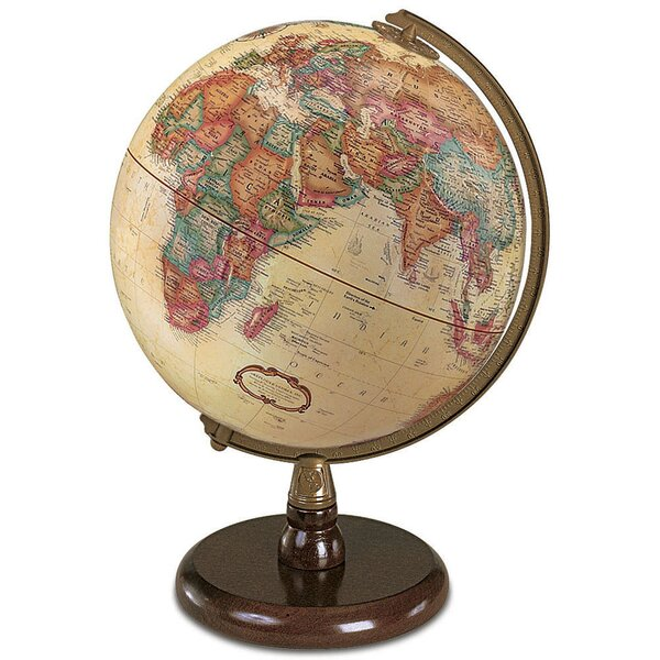 9'' Raised-Relief World Globe by Darby Home Co