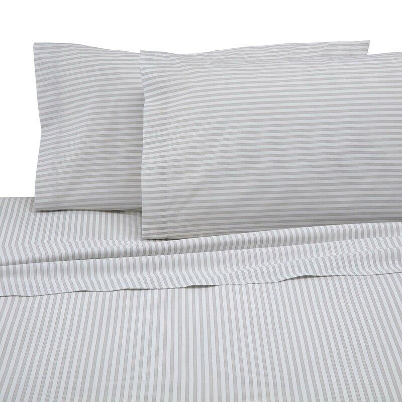 Martex 225-Thread Count Sheet Set in Ticking Stripe