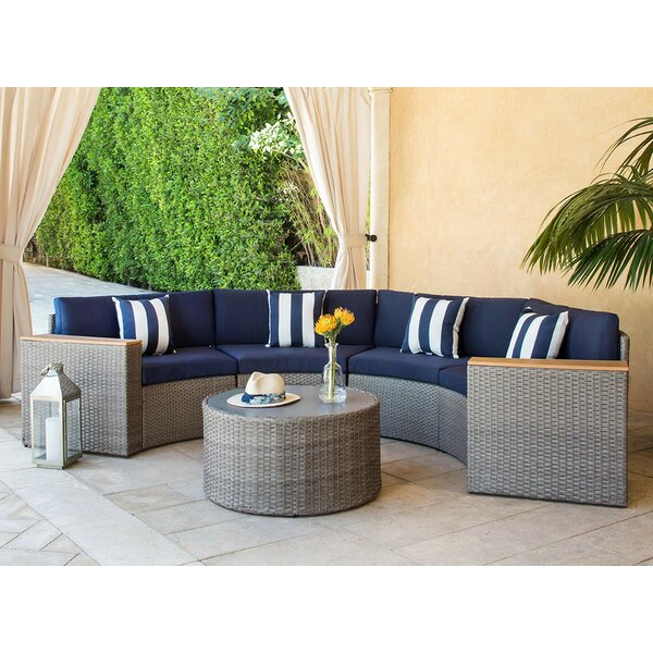 Damien 5 Piece Sectional Seating Group with Cushions by Longshore Tides