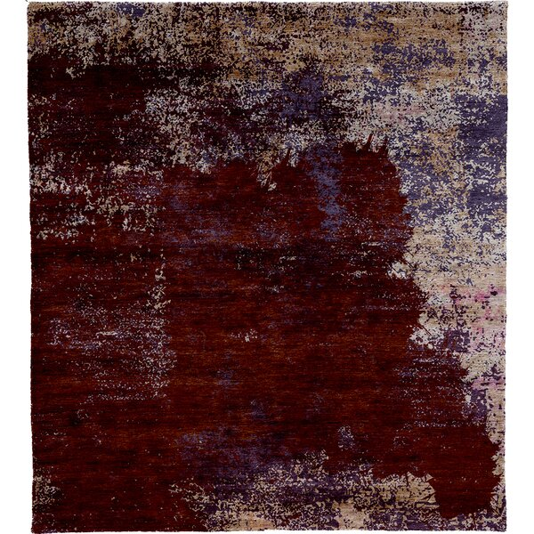 One-of-a-Kind Madigan Hand-Knotted Traditional Style Red 12' x 15' Area Rug