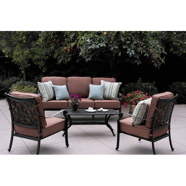 Mccraney 4 Piece Sofa Set with Cushions by Astoria Grand