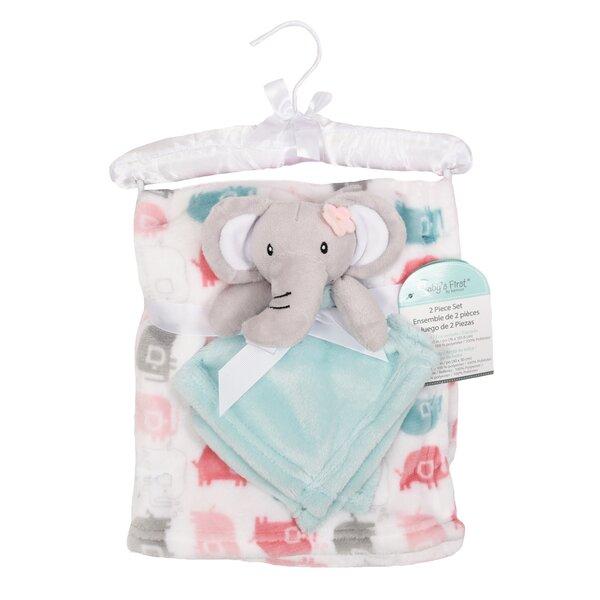 "New  Chick Pea Baby Elephant Blanket 30/"" X 30/"""