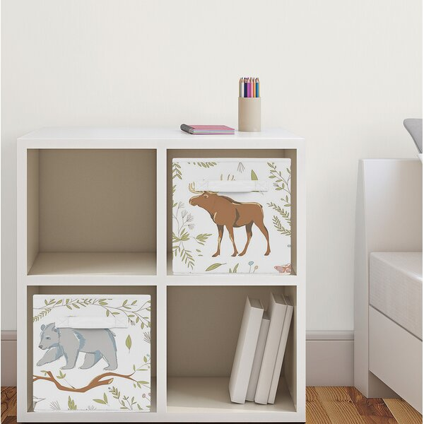 Woodland Toile Fabric Storage Cube by Sweet Jojo Designs