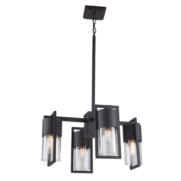 Spiker 4 - Light Shaded Classic / Traditional Chandelier By Ivy Bronx